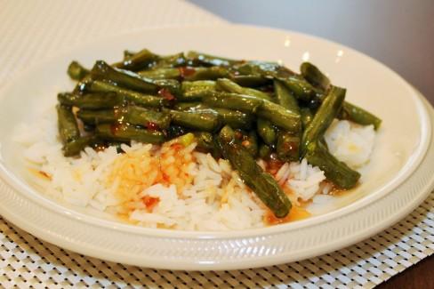 sweat chilli green beans